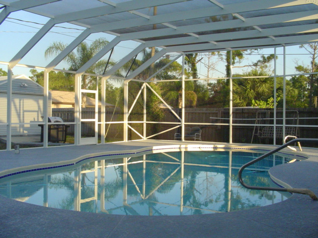 Palm bay aluminum corp installations we offer for Plexiglass pool enclosure